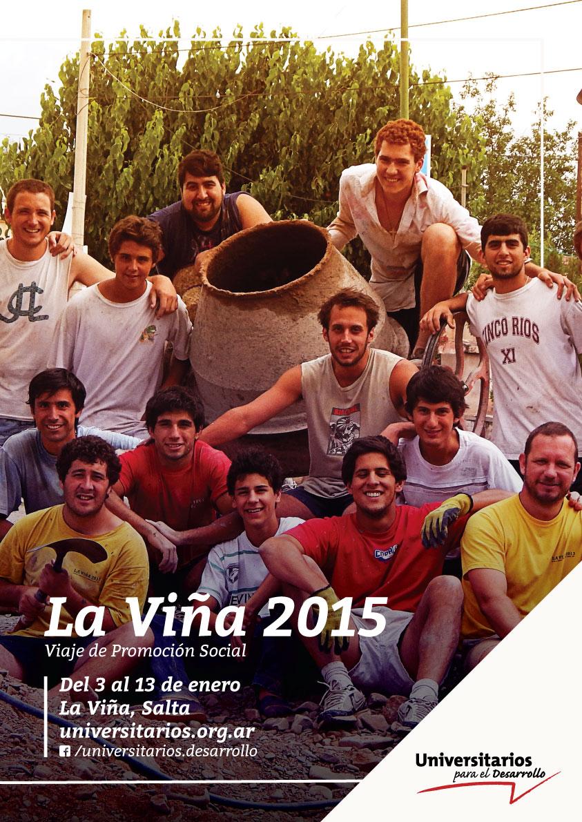 Cartel La Viña 2015 Universitarios para el Desarrollo
